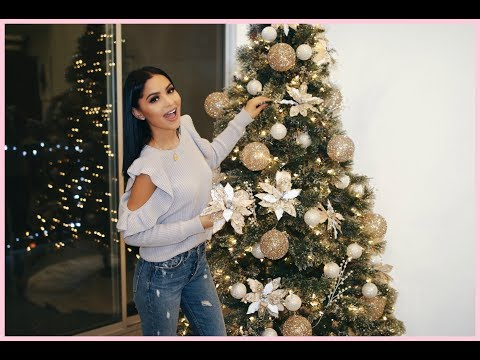 Decorate With Me: Christmas Tree Glam 2017 | Diana Saldana