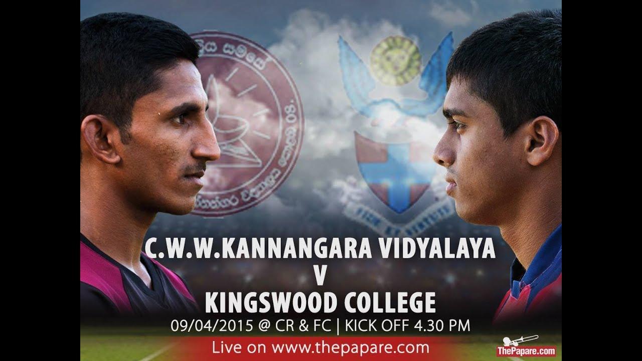 Cww Kannangara Rugby Cww Kannangara vs Kingswood