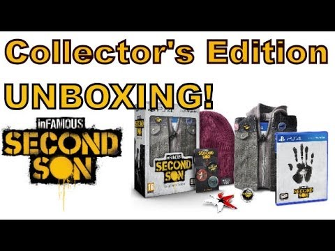 Infamous Second Son PS4 - COLLECTOR'S EDITION UNBOXING!