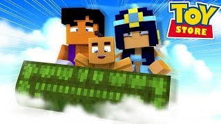 ALADDIN AND JASMINE HAVE A BABY GIRL! w/Little Carly (Minecraft Toystore).