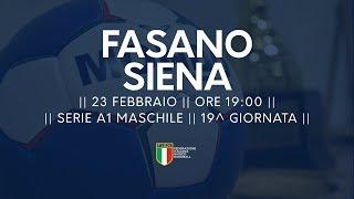 Serie A1M [19^]: Fasano - Siena 30-25
