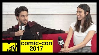 Nat Wolff & Margaret Qualley on ?Death Note? Themes & Screams   Comic-Con 2017   MTV