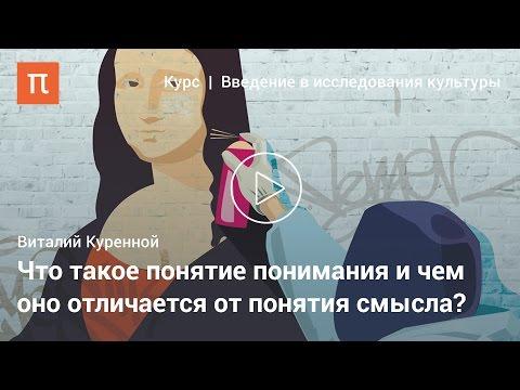 Смысл и понимание в гуманитарных исследованиях - Виталий Куренной