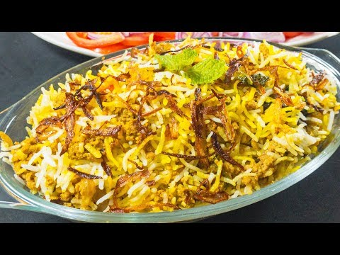 Mutton Keema Biryani Recipe | Hyderabadi Biryani | KookingK (Karachi ki Cooking)