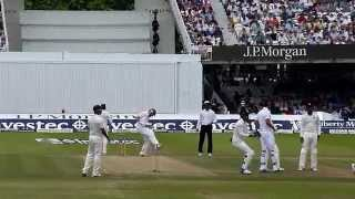 Jadeja strikes with his first ball lbw against Robson at Lord's 2014