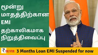 RBI Suspends 3 months EMI of Loans. Instruction to Banks. Home, Car, Personal loans and Credit card