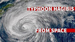 Typhoon Hagibis Makes Landfall In Japan - Seen From Space