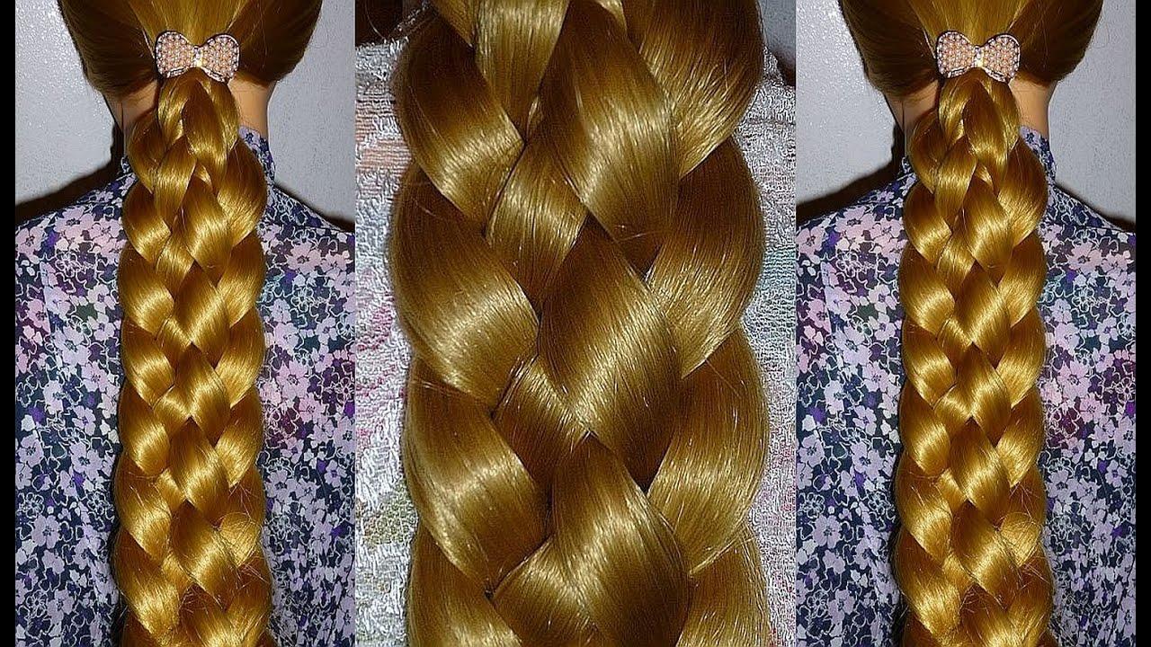 Быстрая и лёгкая причёска на длинные волосы