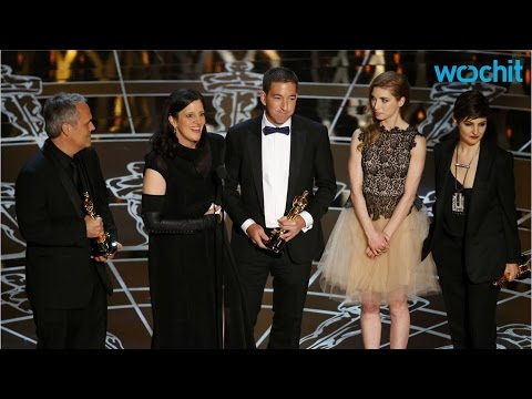 Edward Snowden's Girlfriend Appears on Stage for 'Citizenfour' Win at the Oscars