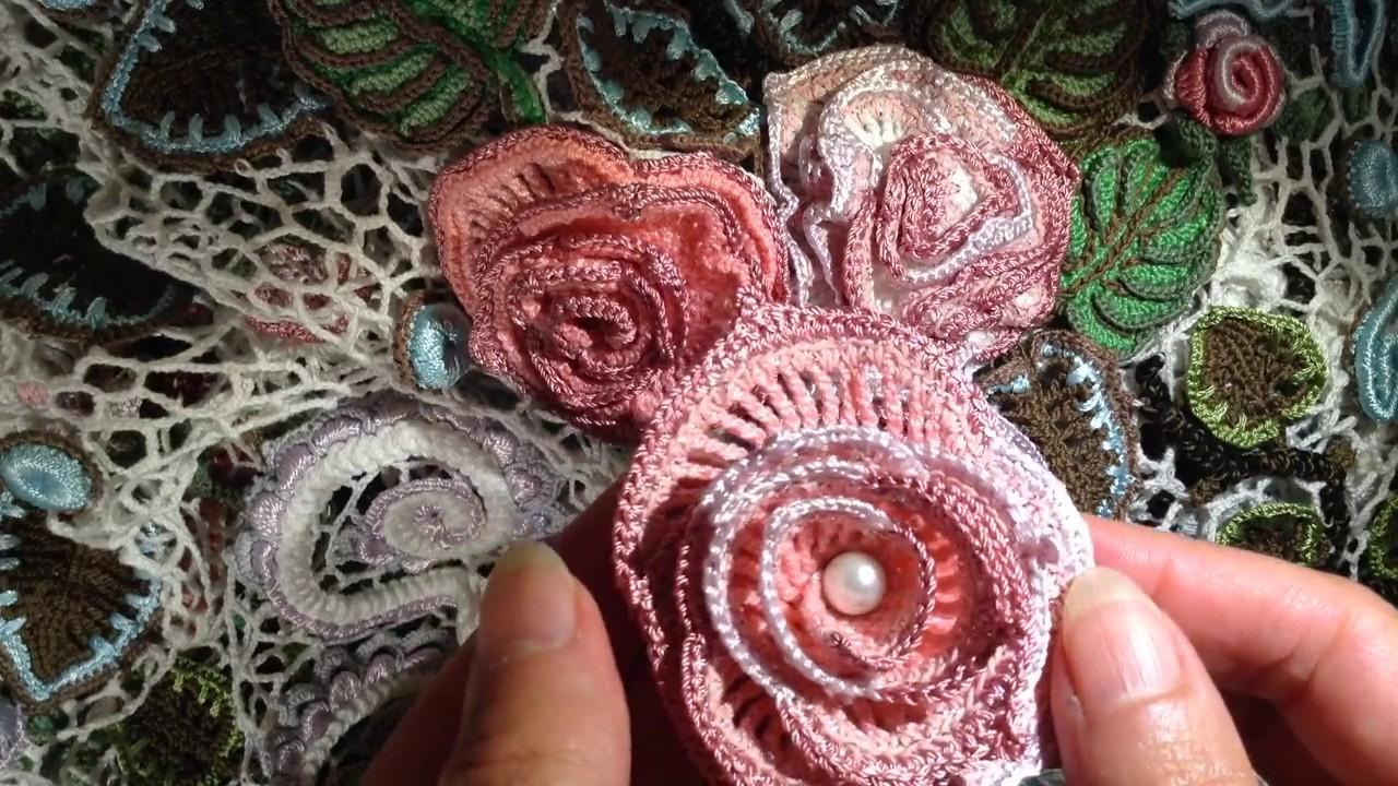Мастер класс вязания цветов из ирландского кружева 625