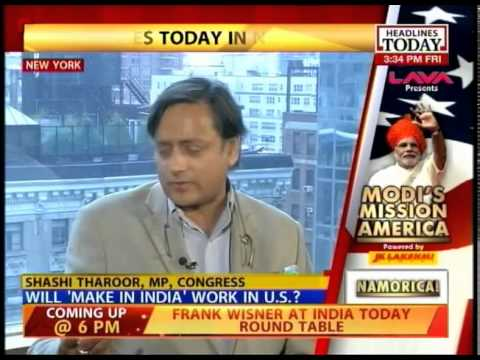 Shashi Tharoor backs PM Modi in US