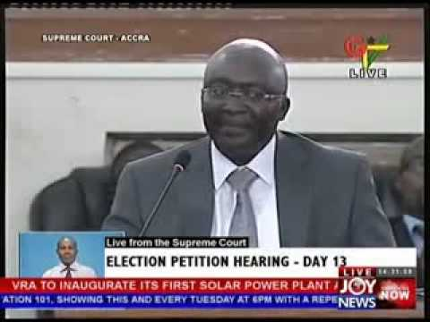 2012 Election Petition Hearing  Day 13 (8-5-13)