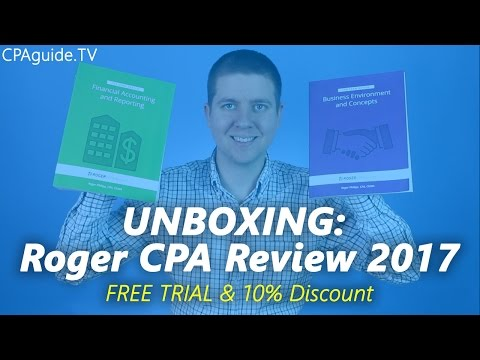 UNBOXING: Roger CPA Review Course 2017 | CPA Guide TV, Ep. 6