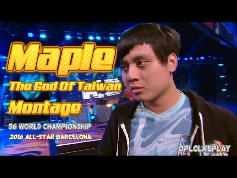 """Maple, """"The God Of Taiwan"""" Montage - LoL S6 World & 2016 All-Star"""