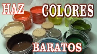 COMO HACER PINTURAS ACRÍLICAS PARA  MANUALIDADES - MAKE YOUR OWN PAINTS FOR CRAFTS