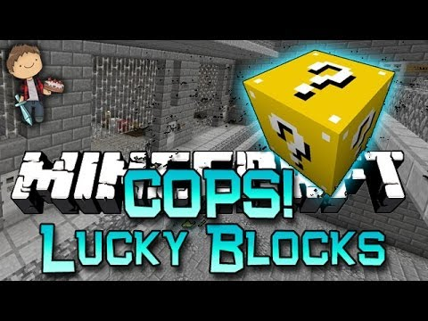 Minecraft: Lucky Block Cops N' Robbers! Modded Mini-Game w/Mitch & Friends!