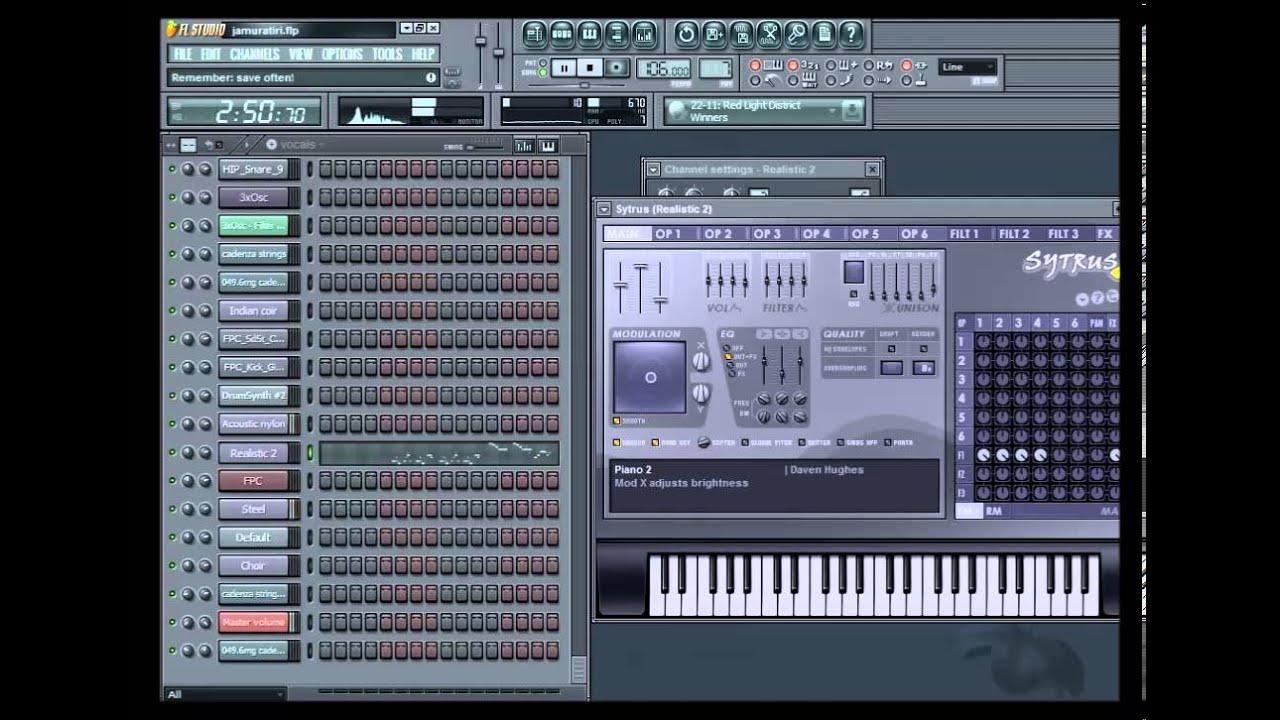 Jamu rathiri - Kshana Kshanam - Piano notes and Chords in FL Studio - YouTube