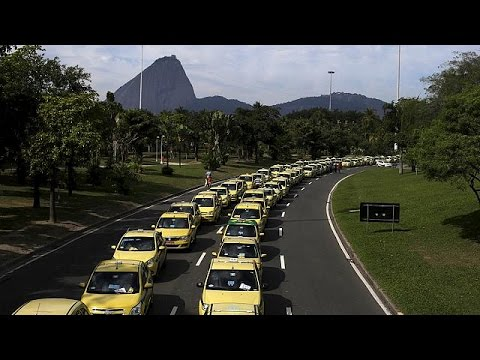 Protest against Uber in Brazil - no comment