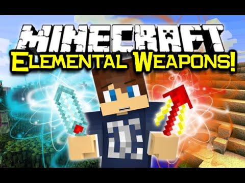 Minecraft ELEMENTAL WEAPONS MOD Spotlight Elemental
