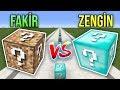 ZENGİN VS FAKİR ŞANS BLOKLARI PARKUR CHALLENGE - Minecraft