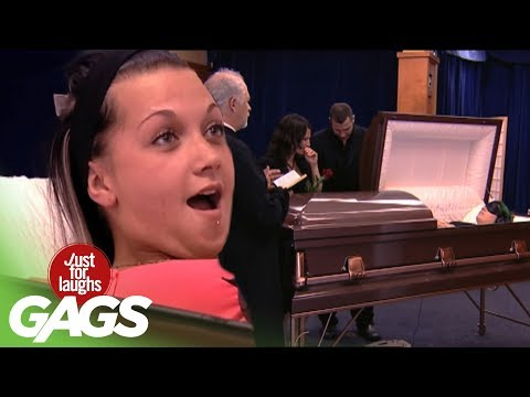 Best of Just For Laughs Gags - Creepy Coffin Pranks
