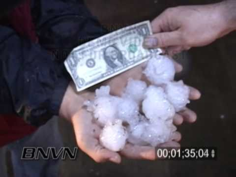 4/21/2008 Paoli, OK Hail Storm Video At Night