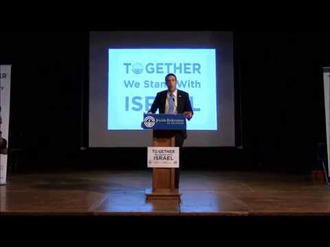 """Delaware Community """"TOGETHER We Stand With Israel"""" Solidarity Rally July 23, 2014"""