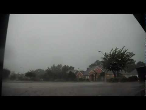 Loud And Intense Texas Thunder And Lightning Storm In Beaumont, Tx video
