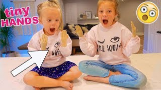 TINY HANDS CHALLENGE! 😂 SISTER vs SISTER