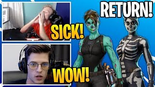 Streamers React To *RARE* Halloween Skins COMING BACK To Fortnite (RIP)