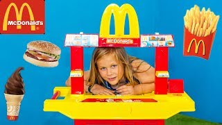 MCDONALDS Drive Thru Assistant Serves PJ Masks and Mickey Mouse Hamburgers in Real Life