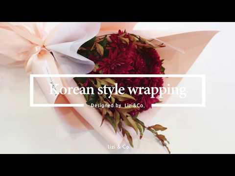 Korean style flower wrapping technique, 아담한 꽃다발 포장 플라워클래스