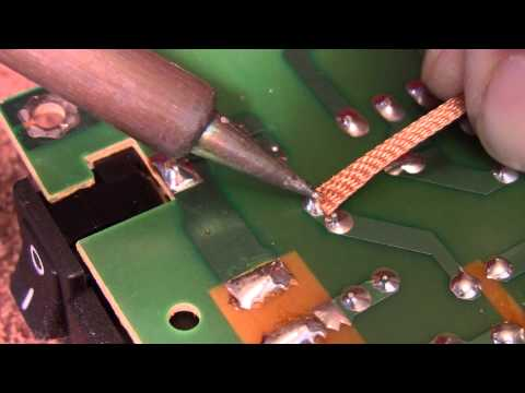 Solder removal from a circuit board
