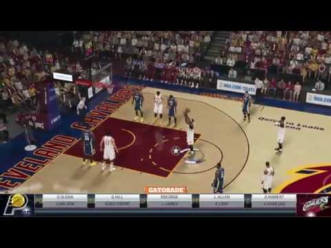 NBA2k15 PS4 MyGMゲームプレイ Indiana Pacers vs Cleveland Cavaliers レブロン