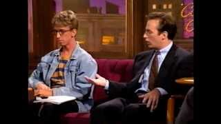 "BOB ODENKIRK with his 'nephew' ANDY DICK on ""COMICS ONLY"" (1992 - Ep133)"