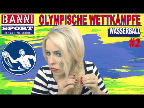 WASSERBALL Water Polo Acuático #2 - Olympic Wettkampf - Original Banni Sport Fan Style & Make-up