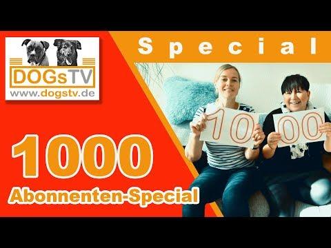 DogsTV Online Hundetraining / 1000 Abonnenten Special - Danksagung