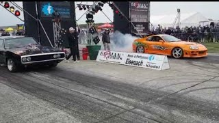 Supra 2JZ vs LS3 Dodge Charger drag race at German Racewars - Fast and Furious Craig Lieberman