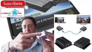 como hacer o extender un cable hdmi a 100 metros ? caja de video por cable red