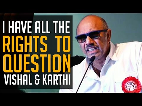 SATHYARAJ - My Vote is to VISHAL & let's welcome a CHANGE - BW