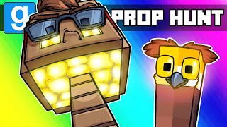 Gmod Prop Hunt Funny Moments - The Most OP Minecraft Prop Ever!