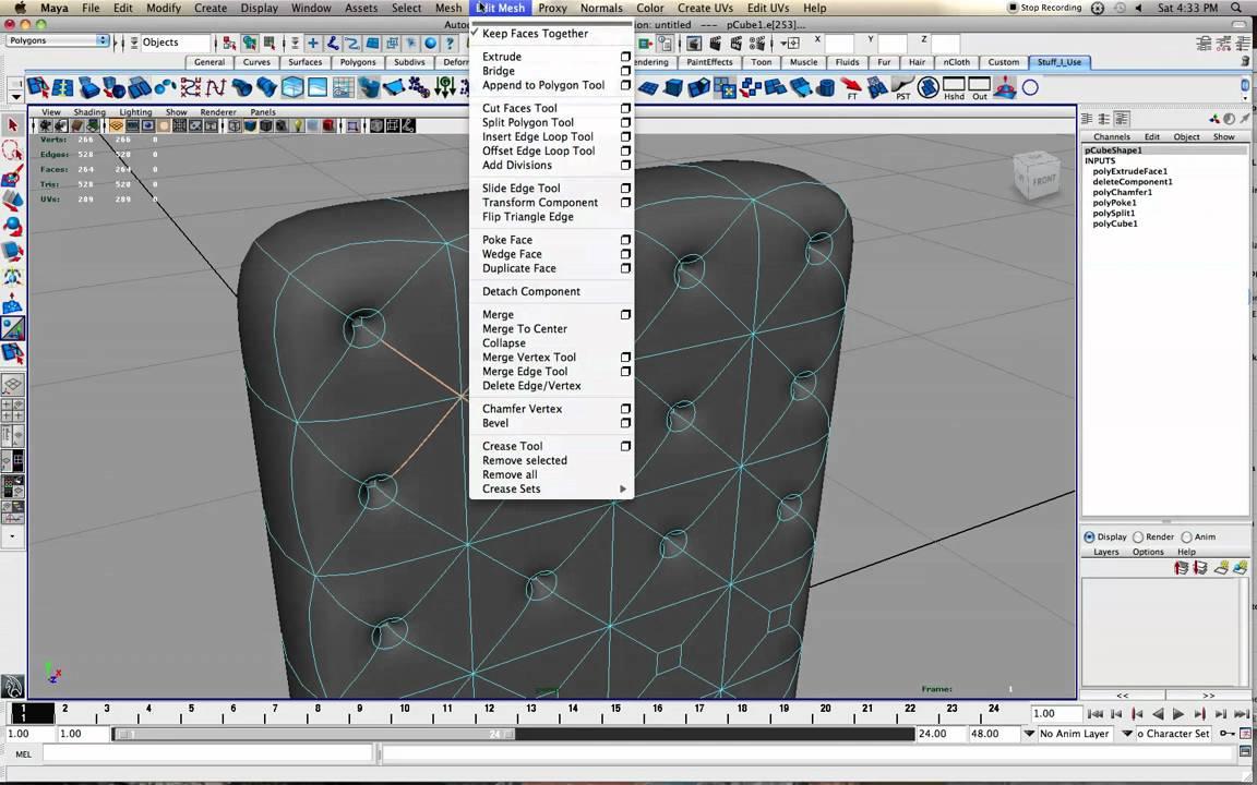 Creating a mattress/ chair/ sofa - YouTube