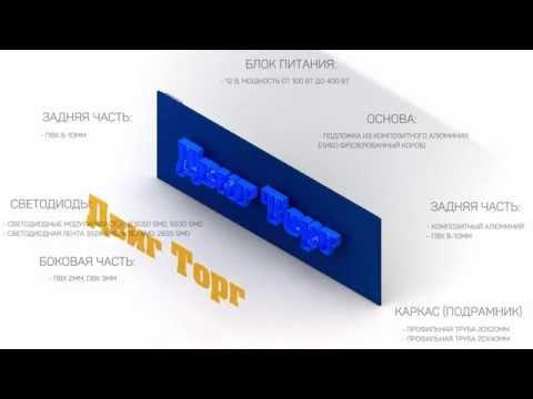 Объемные буквы лицевая подсветка ДвигТорг
