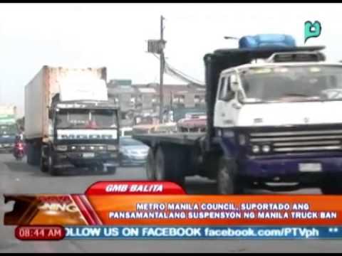 Metro Manila council, suportado ang pansamantalang suspensyon ng Manila truck ban [05|13|14]