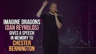 download musica Dan Reynolds Imagine Dragons gives an emotional speech in memory of Chester Bennington 21th July