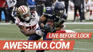 DraftKings & FanDuel NFL DFS Live Before Lock - Week 15 - Awesemo.com