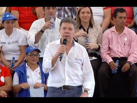 Palabras del Presidente Juan Manuel Santos en la Entrega de conexiones intradomiciliarias