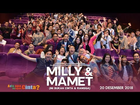 download lagu MILLY & MAMET (Ini Bukan Cinta & Rangga) - Nobar Di Blok M & Media Visit gratis