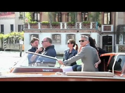 Venice agog at Clooney marriage
