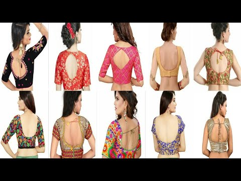 Beautiful back neck blouse designs 2018 || Women's fashion blouses || backless blouse designs ideas|
